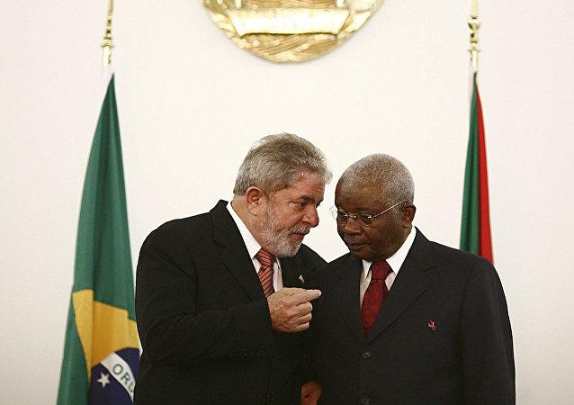 Luiz Inácio Lula da Silva e Armando Emílio Guebuza, ex-presidente de Moçambique, Maputo, 2010
