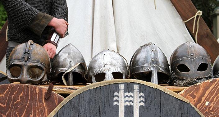 Armas e armadura de vikings