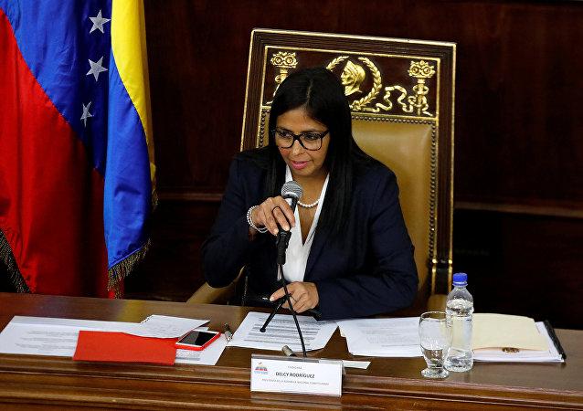 Delcy Rodriguez, presidente da Assembleia Nacional Constituinte