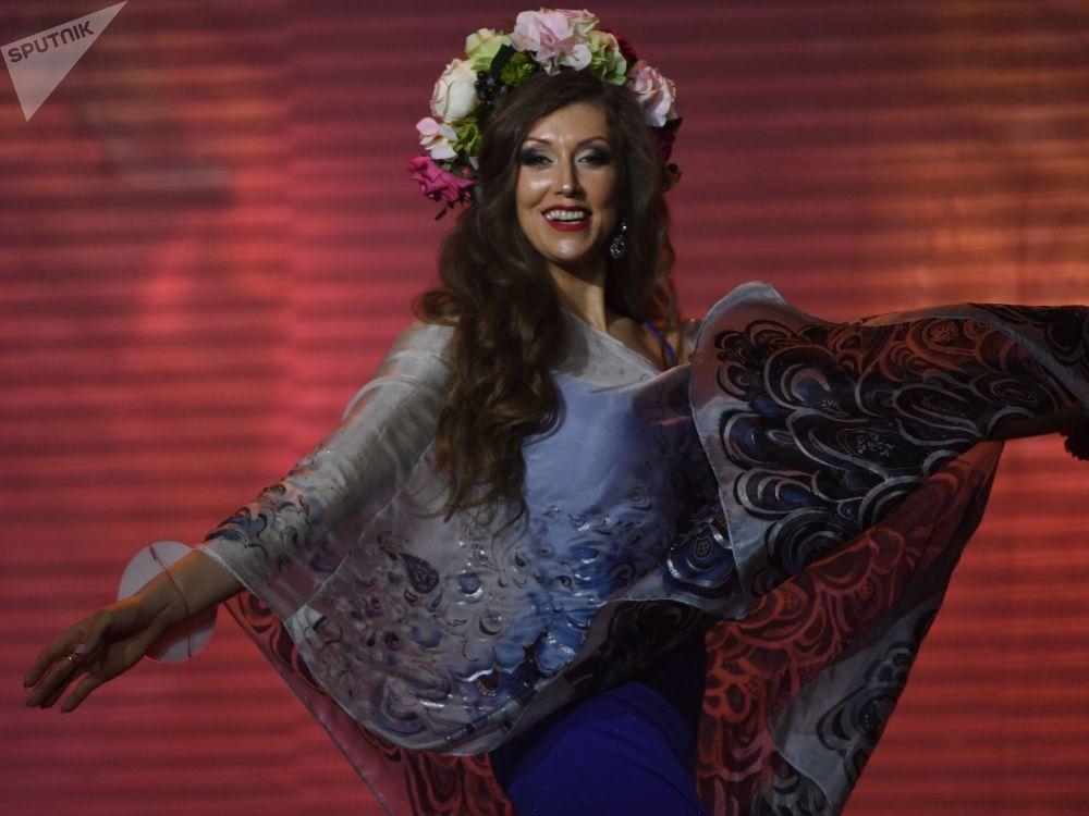 Elizaveta Rodina de São Petersburgo, uma das participantes do concurso