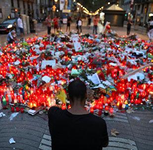 Homenagem às vítimas do ataque terrorista em Barcelona, na Espanha
