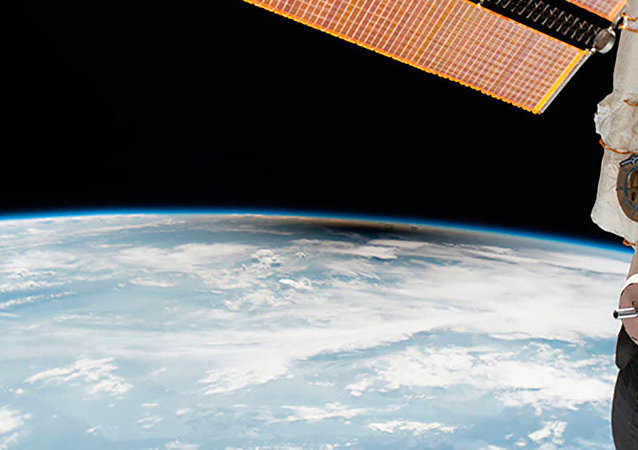Imagem da umbra, a sombra da Lua, sobre o território dos Estados Unidos, em uma visão do espaço