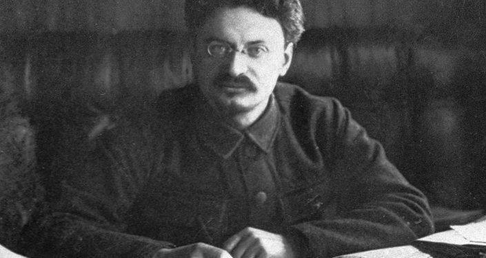 Um retrato de León Trotsky