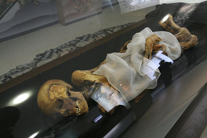 Múmia da Princesa de Altai (foto archivo)