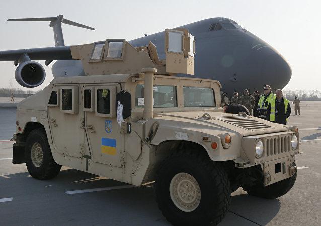 Veículo norte-americano Humvee fornecido à Ucrânia (foto de arquivo)