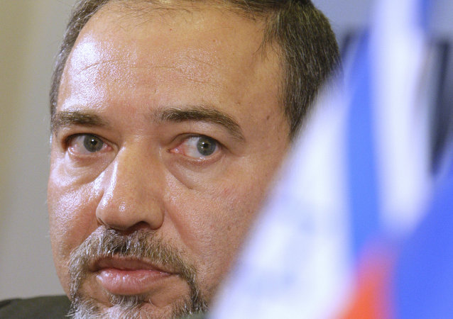 News conference by Avigdor Lieberman at ITAR-TASS