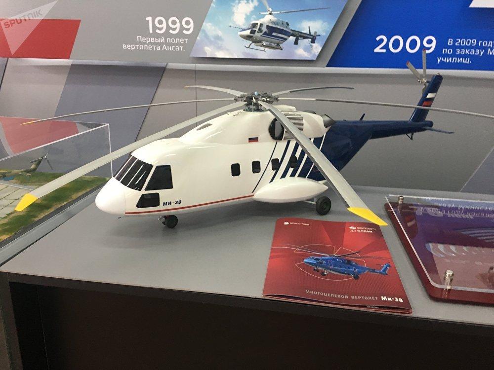 Miniatura do helicóptero semipesado Mi-38