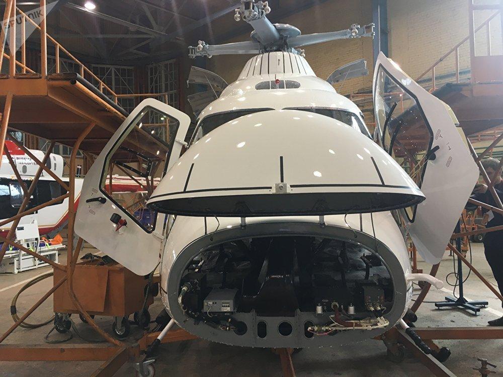 Um dos helicópteros montados na fábrica de Kazan