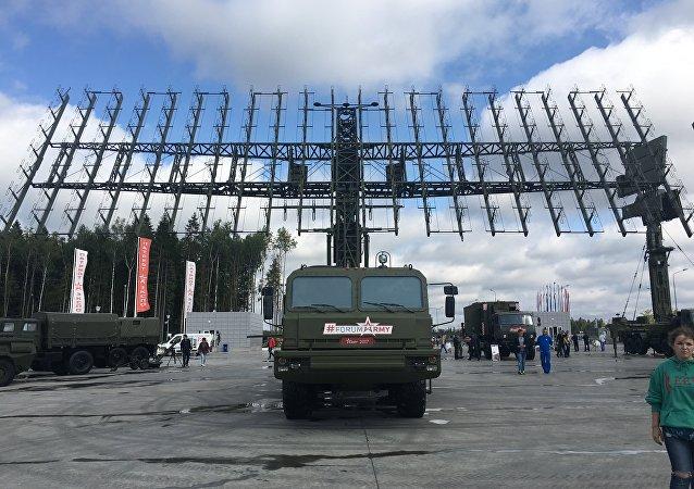 Sistema de radares Nebo-M no fórum EXÉRCITO 2017