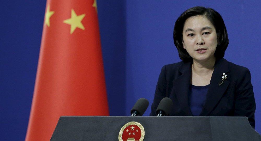 Hua Chunying, a porta-voz do Ministério das Relações Exteriores da China