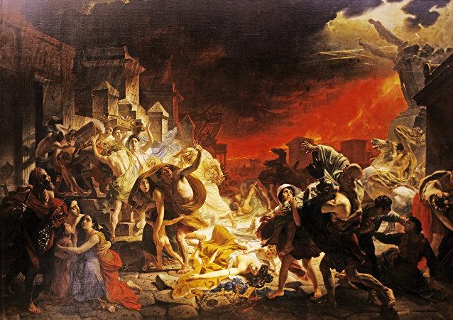 O último dia de Pompeia, quadro de Karl Bryulev