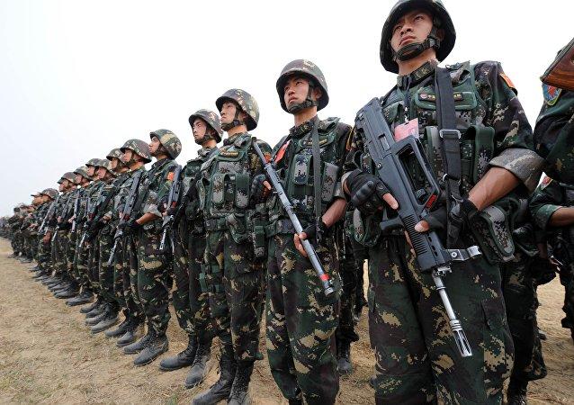 Militares chineses, foto de arquivo