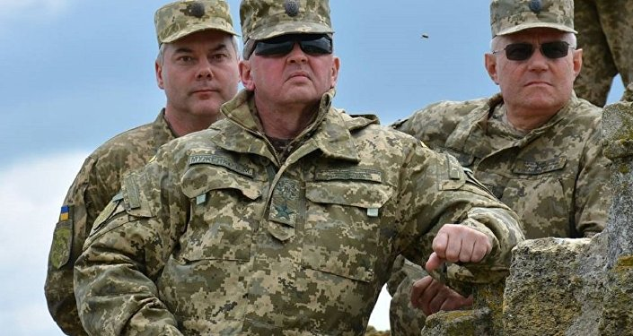 Сomandante-em-chefe das Forças Armadas ucranianas,Viktor Muzhenko (foto de arquivo)