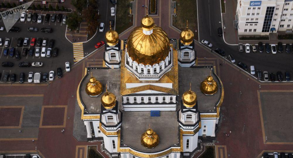 Catedral de São Fyodor Ushakov na cidade russa de Saransk
