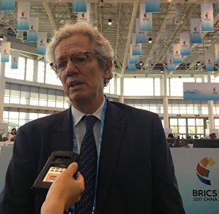 Paulo Nogueira Batista Jr, vice-presidente Do Novo Banco de Desenvolvimento dos BRICS, em 3 de setembro de 2017, em Xiamen