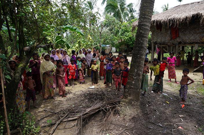 Muçulmanos de origem rohingya (foto de arquivo)