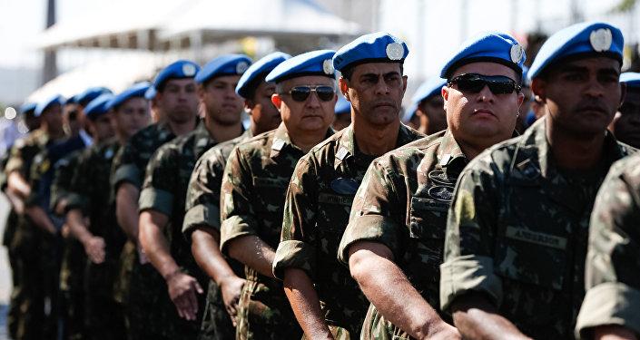 Militares do Exército Brasileiro no desfile do Dia da Independência, em Brasília
