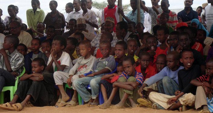 Refugiados somalis no campo Dadaab no Quênia