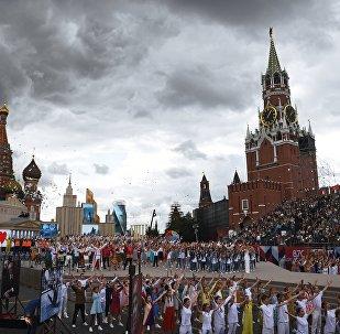 Dia da cidade de Moscou, Praça Vermelha, 9 de setembro de 2017