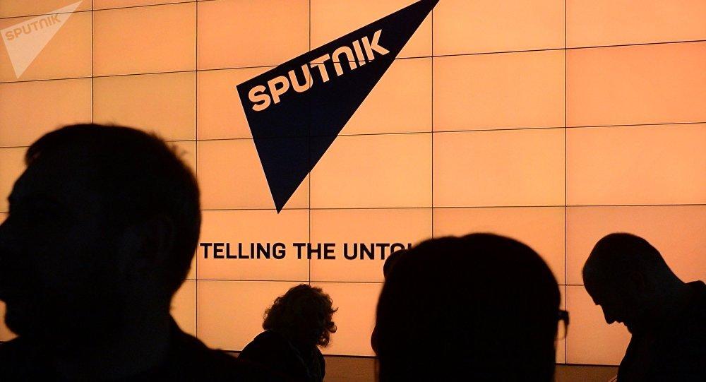 Logo da agência de notícias Sputnik, boicotada pelo Twitter