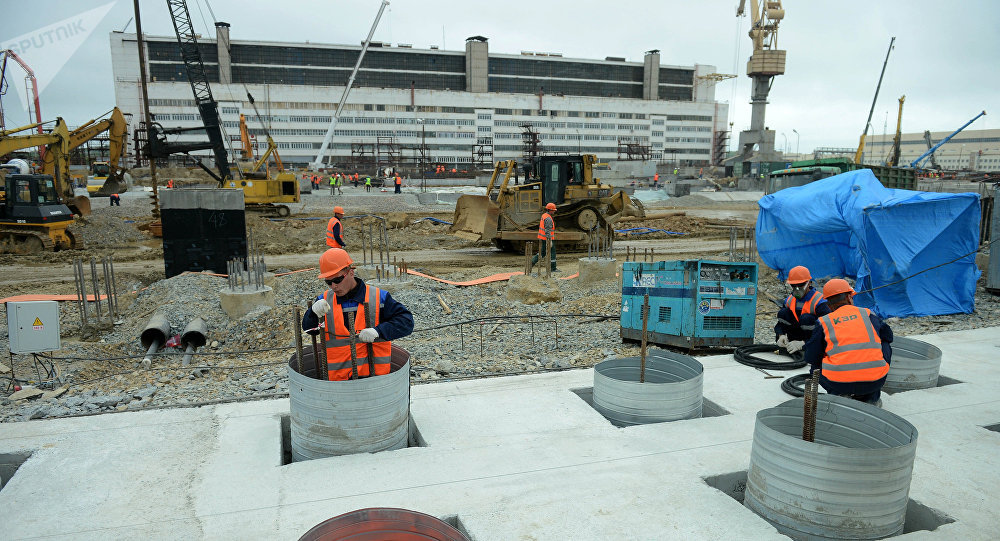 Construção de novos edifícios do estaleiro Zvezda no Extremo Oriente russo