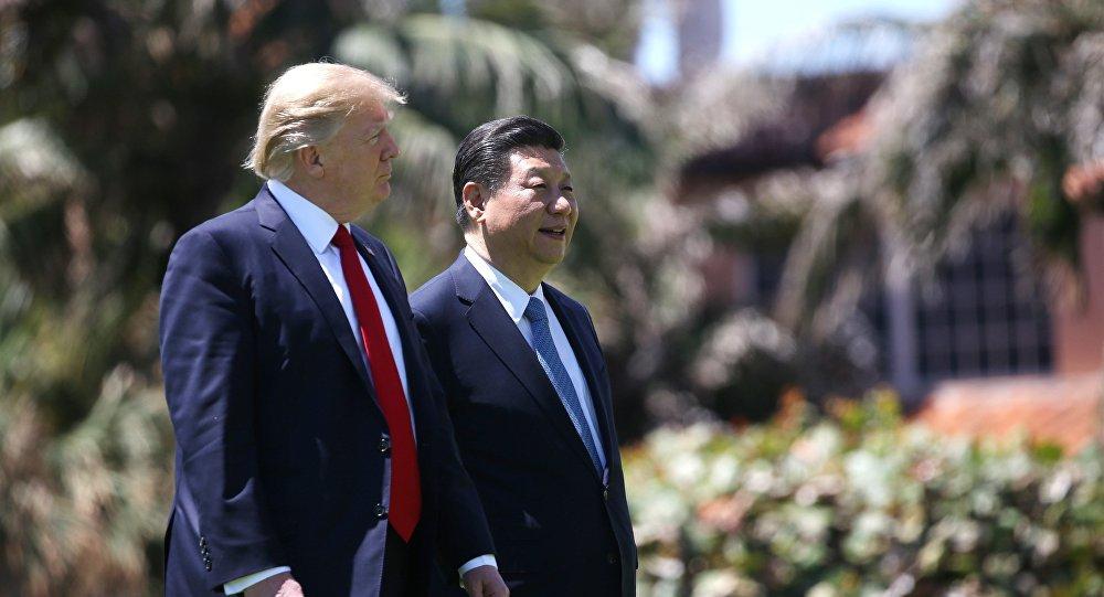 O presidente dos EUA, Donald Trump, e o presidente da China,  Xi Jinping (foto de arquivo)