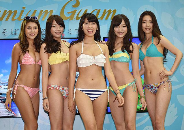 Modelos japonesas em Tóquio (imagem referencial)