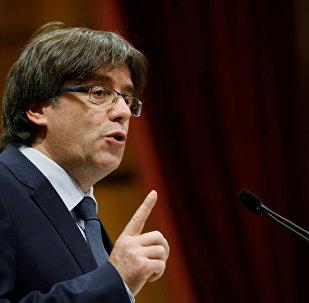 Carles Puigdemont, o ex-presidente da Catalunha
