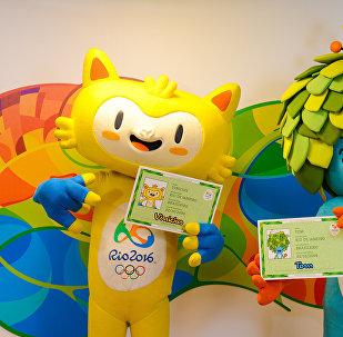 Mascotes da Olimpíada e da Paraolimpíada 2016.