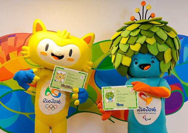 Mascotes da Olimpíada e da Paraolimpíada 2016