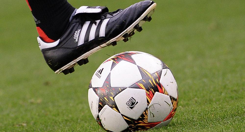 Bola de futebol. Sessão de treino do Bayern de Munique
