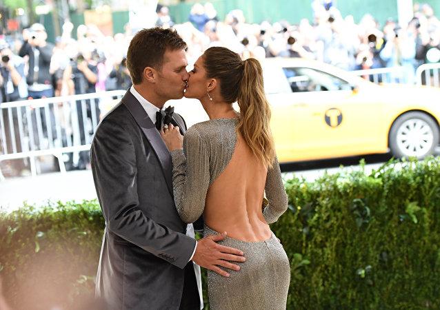 Gisele Bündchen com seu marido Tom Brady