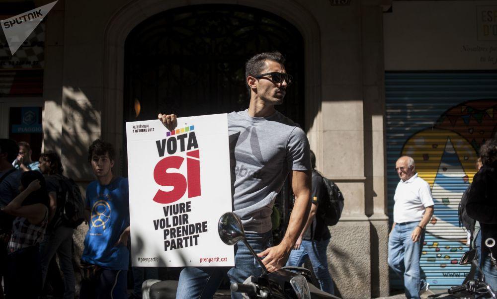 Partidários da independência da Catalunha apelam aos seus partidários a saírem às ruas e se manifestarem contra as autoridades espanholas
