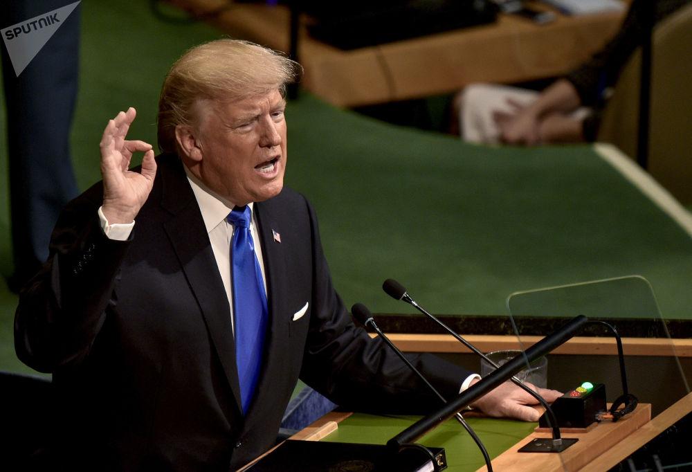 Presidente Trump discursa perante a Assembleia Geral da ONU