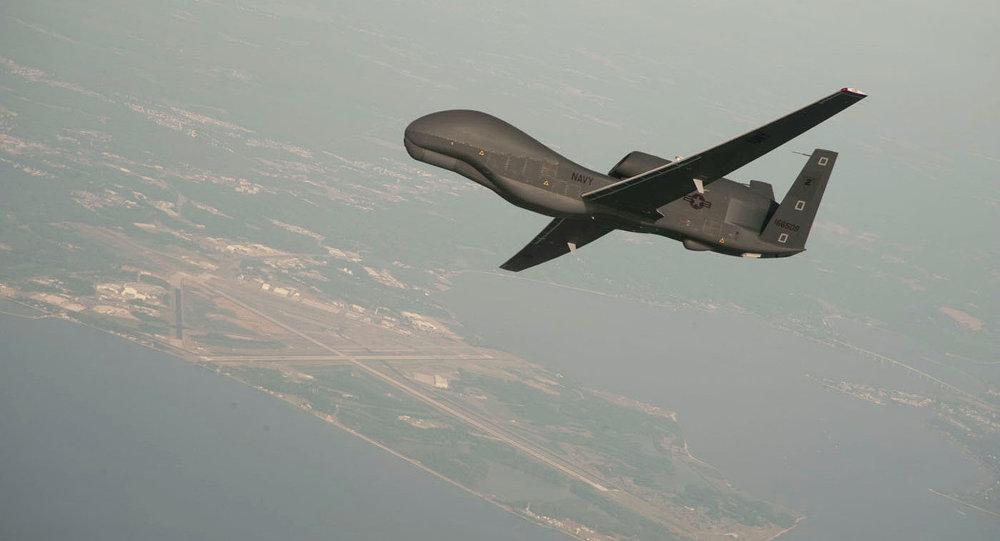 Drone norte-americano RQ-4 Global Hawk (foto de arquivo)