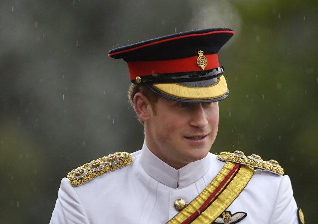 Príncipe Harry durante cerimônia na Austrália