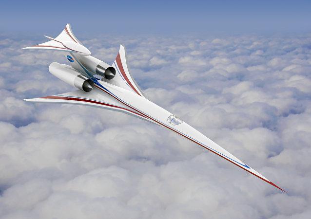Imagem de como será o avião X, que integra o projeto QueSST e que pode reviver o famoso avião supersônico Concorde