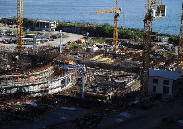 Construção de Angra 3 em abril de 2011