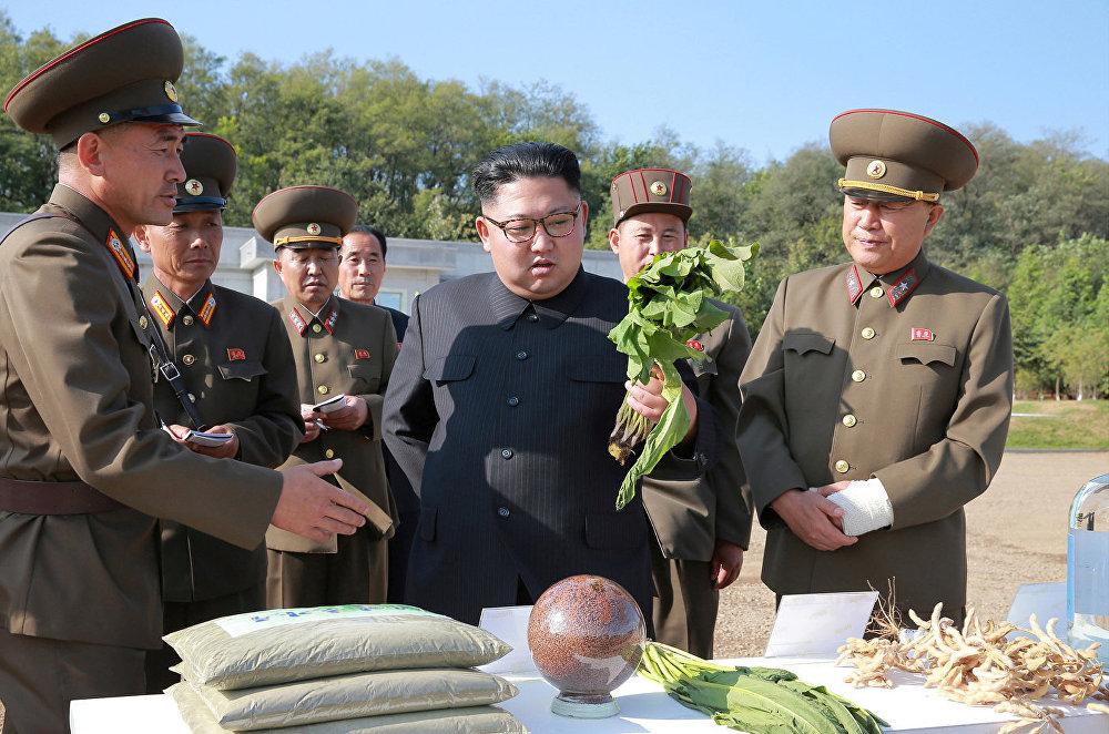 Choe Ryong-hae, vice-marechal do Exército Popular da Coreia acompanhou a visita.