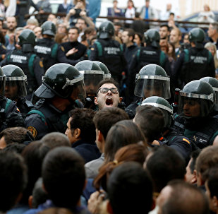 Situação em Barcelona, 1º de outubro