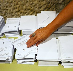 Cédulas eleitorais do referendo pela independência da Catalunha
