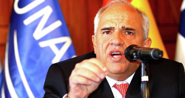Ernesto Samper, secretário-geral da União das Nações Sul-Americanas (Unasul)
