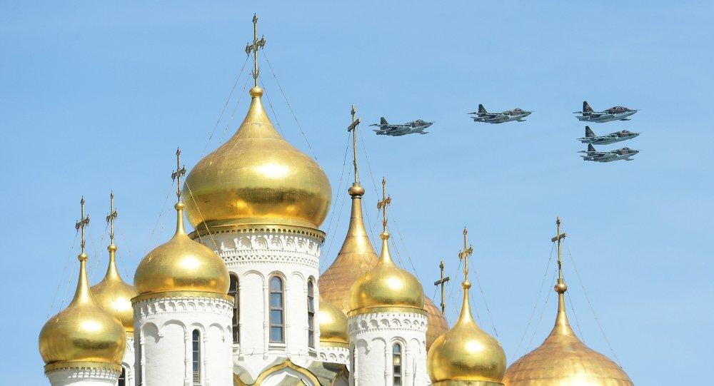 Caças Sukhoi Su-25SM Frogfoot sobrevoarão Moscou no dia 9 de maio