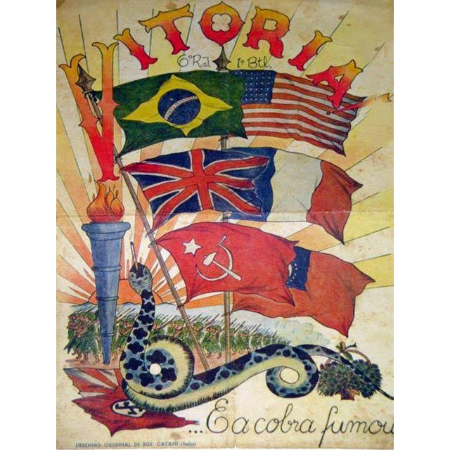 Homenagem aos países aliados publicada na revista dos pracinhas em 8 de maio de 1945