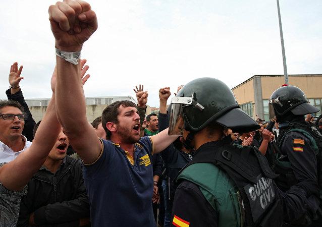 Situação na Catalunha durante o referendo de 1º  de outubro