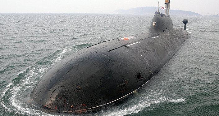 Submarino nuclear da Marinha da Índia INS Chakra (foto de arquivo)