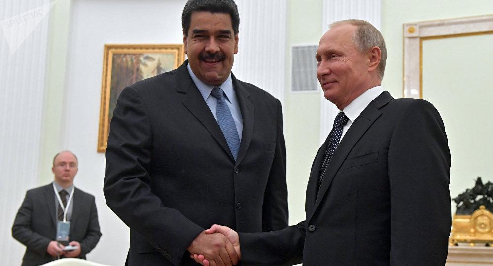 Presidente russo Vladimir Putin com o presidente da Venezuela Nicolás Maduro (foto do arquivo)