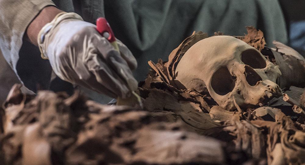 Túmulo com múmias em Luxor, Egito