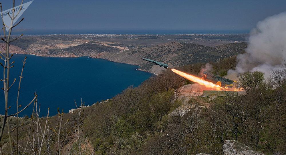 Lançamento de um míssil russo