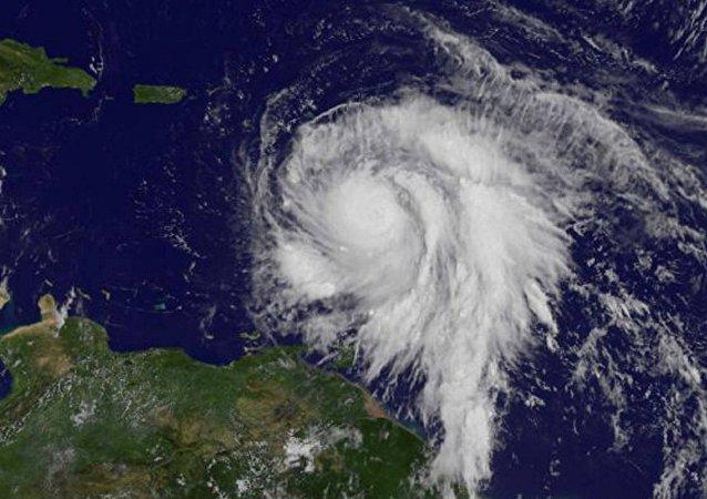 Imagem de satélite do furacão Maria
